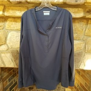 Columbia Omni-shade Popover Shirt Size XL